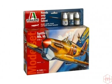 Italeri - Spitfire Mk.Vb. dovanų komplektas, Mastelis: 1/72, 71001