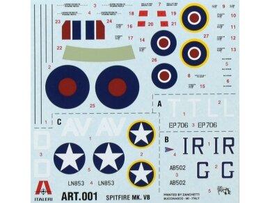 Italeri - Spitfire Mk.Vb. dovanų komplektas, Mastelis: 1/72, 71001 2