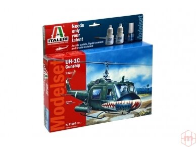 Italeri - UH-1C Gunship dovanų komplektas, Mastelis: 1/72, 71050