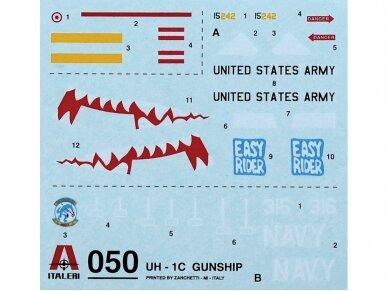 Italeri - UH-1C Gunship dovanų komplektas, Mastelis: 1/72, 71050 6