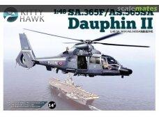 KITTY HAWK - SA.365F/AS.565SA Dauphin II, Mastelis: 1/48, 80108
