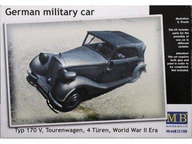 Master Box - German military car Mercedes-Benz 170 V, Mastelis: 1/35, MB35100