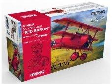 "Meng Model - Limited Edition Fokker Dr.I Triplane ""Red Baron"" includes 1:10 bust of Manfred von Richthofen, 1/32, QS-002S"