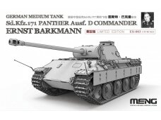 Meng Model - German Medium Tank Sd.Kfz.171 Panther Ausf.D Commander Ernst Barkmann, Mastelis: 1/35, ES-003