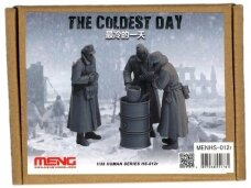 Meng Model - The Coldest Day Includes three standing figures, a barrel stove and a water bucket, Mastelis: 1/35, HS-012r