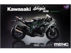Meng Model - Kawasaki Ninja H2 (nudažytos dalys), 1/9, MT-002s