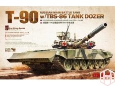 Meng Model - Russian Main Battle Tank T-90 w/TBS-86 Tank Dozer, Mastelis: 1/35, TS-014