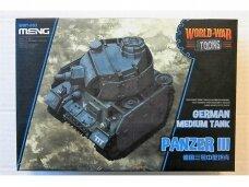 Meng Model - World War Toon German Medium Tank Panzer III, WWT-005