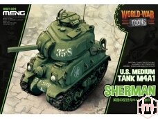 Meng Model - World War Toon  U.S. Medium Tank M4A1, WWT-002