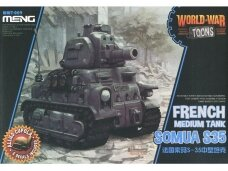 Meng Model - World War Toons Somua S35, WWT-009