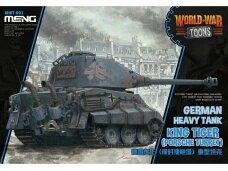 Meng Model - World War Toons King Tiger (Porsche Turret) German Heavy Tank, WWT-003