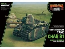 Meng Model - World War Toons Char B1 French Medium Tank, WWT-016