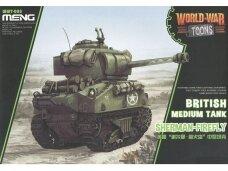 Meng Model - World War Toons Sherman-Firefly British Medium Tank, WWT-008