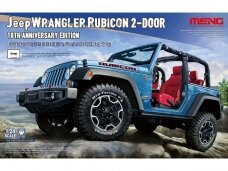 Meng Model - Jeep Wrangler Rubicon 2-Door, Mastelis: 1/24, CS-003