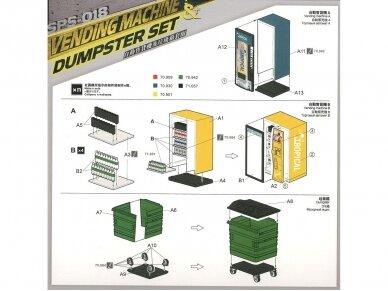 Meng Model - VENDING MACHINE & DUSTBIN SET, 1/35, SPS-018 3