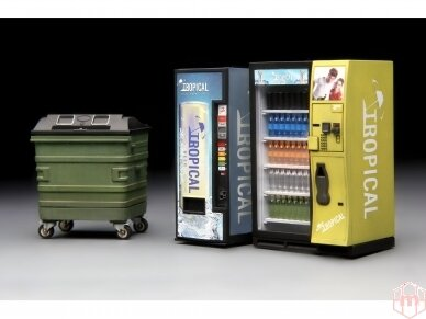 Meng Model - VENDING MACHINE & DUSTBIN SET, 1/35, SPS-018 2