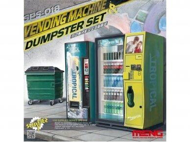 Meng Model - VENDING MACHINE & DUSTBIN SET, 1/35, SPS-018
