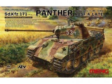 Meng Model - German Medium Tank Sd.Kfz.171 Panther Ausf. A late, Mastelis: 1/35, TS-035