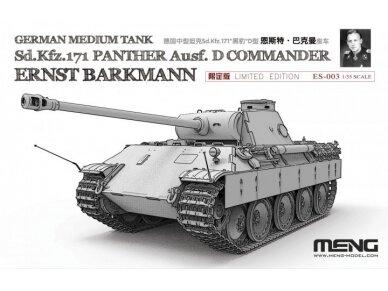 Meng Model - German Medium Tank Sd.Kfz.171 Panther Ausf.D Commander Ernst Barkmann, Mastelis: 1/35, ES-003