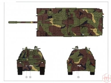 Meng Model - German Panzerhaubitze 2000 Self-Propelled Howitzer, Scale: 1/35, TS-012 25