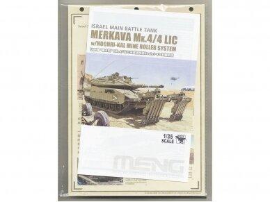Meng Model - Israel Main Battle Tank Merkava Mk.4/4LIC w/Nochri-Kal Mine Roller System, 1/35, TS-049 15