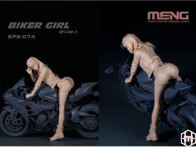 Meng Model - Biker Girl, Scale: 1/9, SPS-074 2