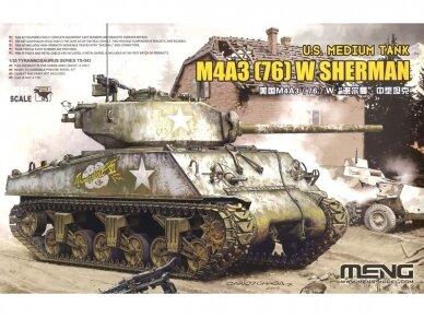 Meng Model - M4A3 (76) W Sherman, Mastelis: 1/35, TS-043
