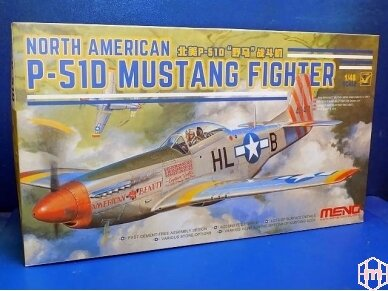 Meng Model - North American P-51D Mustang Fighter, Mastelis: 1/48, LS-006