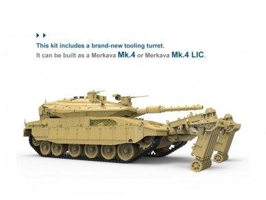 Meng Model - Israel Main Battle Tank Merkava Mk.4/4LIC w/Nochri-Kal Mine Roller System, 1/35, TS-049 3