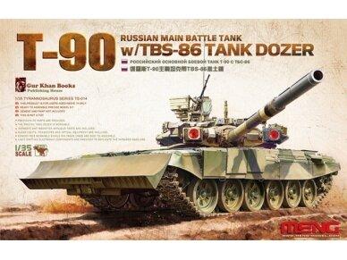 Meng Model - Russian Main Battle Tank T-90 w/TBS-86 Tank Dozer, Mastelis: 1/35, TS-014
