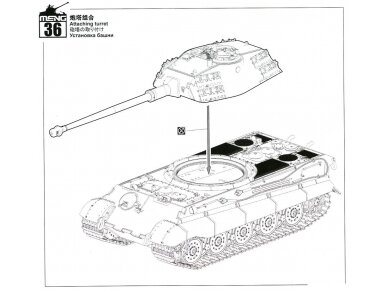 Meng Model - Sd.Kfz.182 King tiger (Porsche Turret) w/ zimmerit decals, Scale: 1/35, TS-037, SPS-060 27