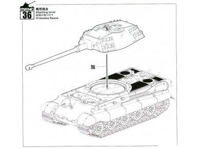 Meng Model - Sd.Kfz.182 King tiger (Porsche Turret), Mastelis: 1/35, TS-037 27