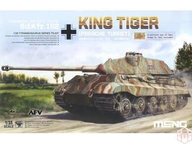 Meng Model - Sd.Kfz.182 King tiger (Porsche Turret) w/ zimmerit decals, Scale: 1/35, TS-037, SPS-060