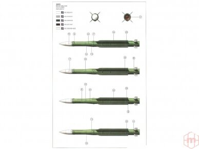 Meng Model - Russian 9K37M1 BUK Air defense missile system SAM, 1/35, SS-014 6
