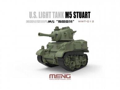 Meng Model - World War Toons M5 Stuart U.S. Light Tank, WWT-012 2