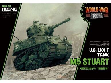 Meng Model - World War Toons M5 Stuart U.S. Light Tank, WWT-012