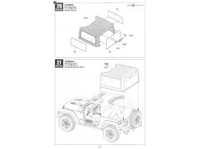 Meng Model - Jeep Wrangler Rubicon 2-Door, Mastelis: 1/24, CS-003 23