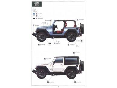 Meng Model - Jeep Wrangler Rubicon 2-Door, Mastelis: 1/24, CS-003 8
