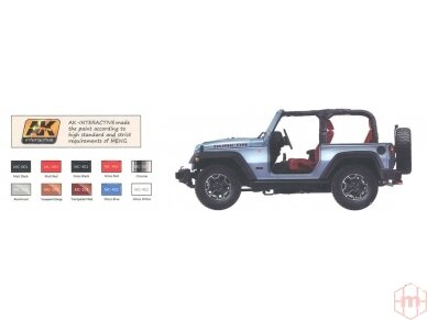 Meng Model - Jeep Wrangler Rubicon 2-Door, Mastelis: 1/24, CS-003 9