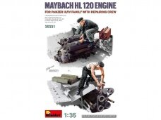 Miniart - Maybach HL 120 Engine for Panzer III/IV family with repairing crew, 1/35, 35331