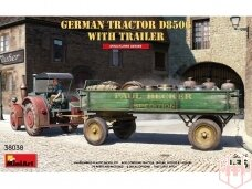 Miniart - GERMAN TRACTOR D8506 WITH TRAILER, 1/35, 38038