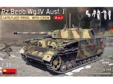 Miniart - Pz/Beob.Wg.IV Ausf. J Late/Last Prod. 2 in 1 w/Crew, Mastelis: 1/35, 35344