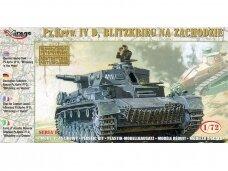 "Mirage Hobby - German Heavy Tank Pz.Kpfw. IV D ""Blitzkrieg in the West"", Mastelis: 1/72, 72854"