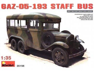 Miniart - GAZ-05-193 Staff Bus, Mastelis: 1/35, 35156