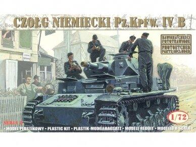 Mirage Hobby - German Tank (Czołg Niemiecki) Pz.Kpfw. IV B, Mastelis: 1/72, 72852