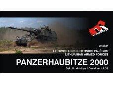 Modeliuok - Panzerhaubitze 2000 lietuviškos dekalės, Mastelis: 1/35