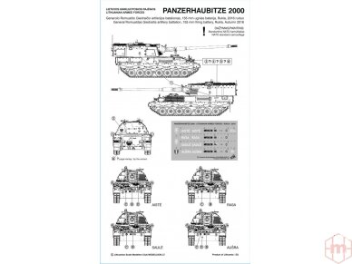 Modeliuok - Panzerhaubitze 2000 lietuviškos dekalės, Mastelis: 1/35 3