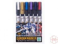 Mr.Hobby - Gundam Advanced Marker Set, GMS-124