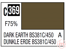 Mr.Hobby - Mr.Color serijos nitro dažai C-369 Dark Earth BS381C/450, 10ml