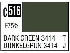 Mr.Hobby - Mr.Color serijos nitro dažai C-516 Dark Green 3414, 10ml